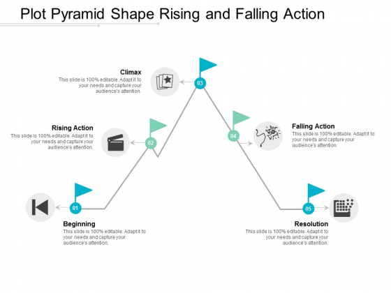Plot Pyramid Shape Rising And Falling Action Ppt Powerpoint Presentation Slides Images