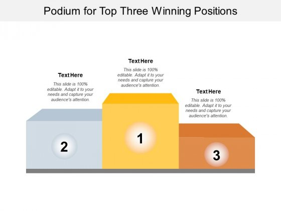 Podium For Top Three Winning Positions Ppt PowerPoint Presentation Outline File Formats