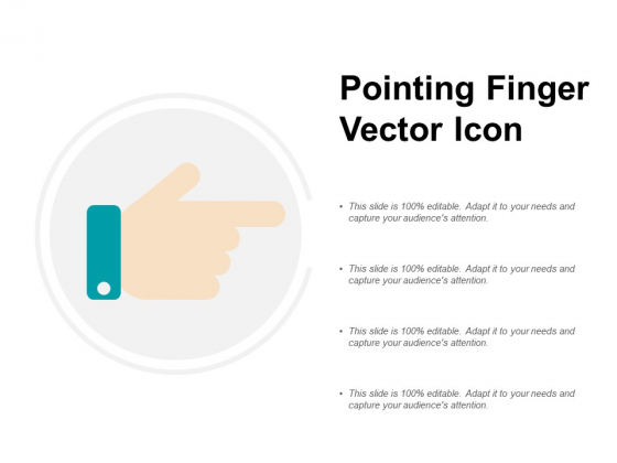 Pointing Finger Vector Icon Ppt PowerPoint Presentation Infographics Inspiration