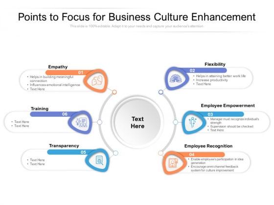 Points_To_Focus_For_Business_Culture_Enhancement_Ppt_PowerPoint_Presentation_Diagram_Graph_Charts_PDF_Slide_1