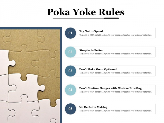 Poka Yoke Rules Ppt PowerPoint Presentation Pictures Layout Ideas