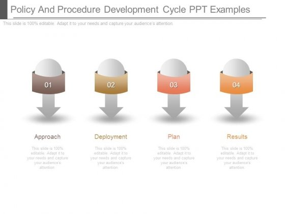 Policy And Procedure Development Cycle Ppt Examples
