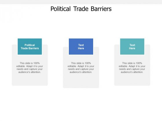 Political Trade Barriers Ppt PowerPoint Presentation Pictures Backgrounds Cpb Pdf