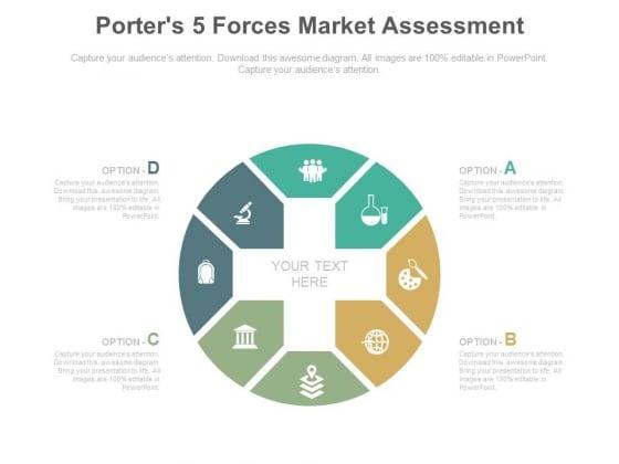 Porters 5 Forces Market Assessment Ppt Slides Powerpoint Templates