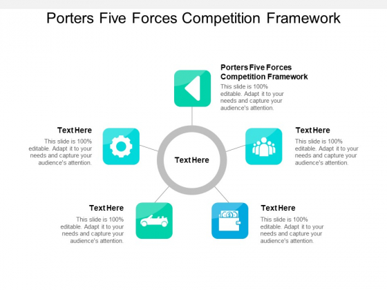 Porters Five Forces Competition Framework Ppt PowerPoint Presentation Ideas Deck Cpb