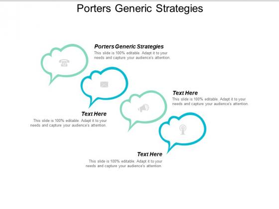 Porters Generic Strategies Ppt PowerPoint Presentation Graphics Cpb