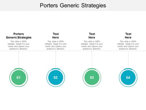 Porters Generic Strategies Ppt PowerPoint Presentation Inspiration Graphics Cpb