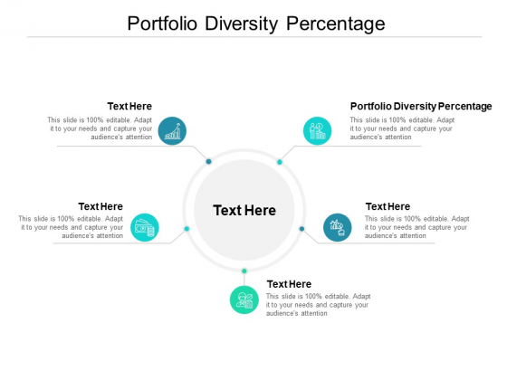 Portfolio Diversity Percentage Ppt PowerPoint Presentation Styles Backgrounds Cpb