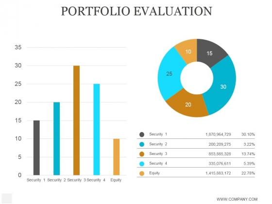 Portfolio Evaluation Ppt PowerPoint Presentation Visuals