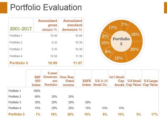 Portfolio Evaluation Template 1 Ppt PowerPoint Presentation Slides Professional