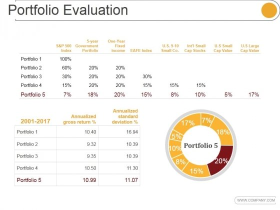 Portfolio Evaluation Template 2 Ppt PowerPoint Presentation Designs