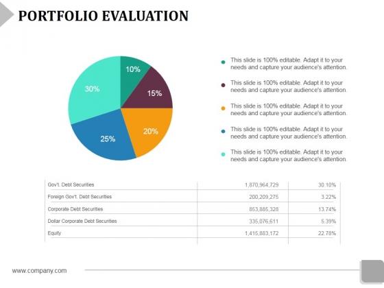 Portfolio Evaluation Template 2 Ppt PowerPoint Presentation Inspiration Information