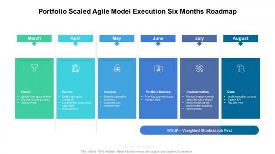 Portfolio_Scaled_Agile_Model_Execution_Six_Months_Roadmap_Microsoft_Slide_1