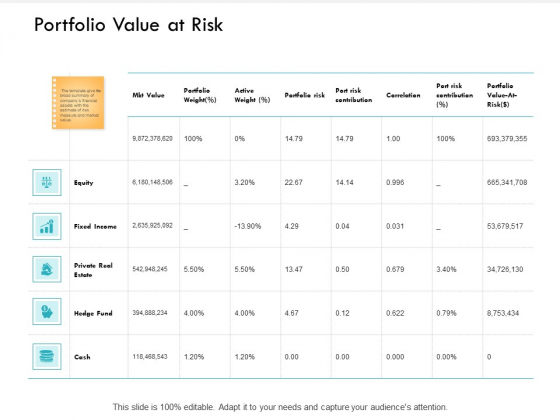 Portfolio Value At Risk Income Ppt PowerPoint Presentation File Mockup