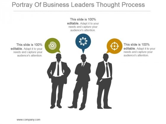 Portray Of Business Leaders Thought Process Powerpoint Slide