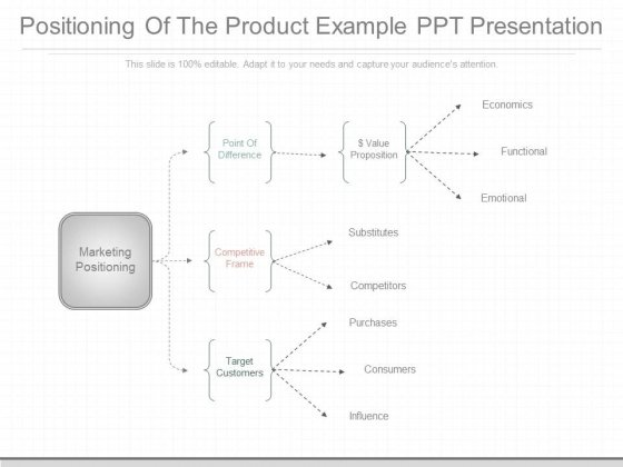 Positioning Of The Product Example Ppt Presentation