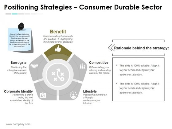 Positioning Strategies Consumer Durable Sector Ppt PowerPoint Presentation Ideas Designs