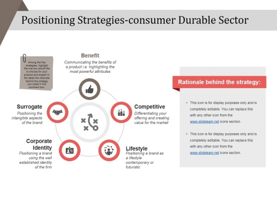 Positioning Strategies Consumer Durable Sector Ppt PowerPoint Presentation Inspiration Designs Download
