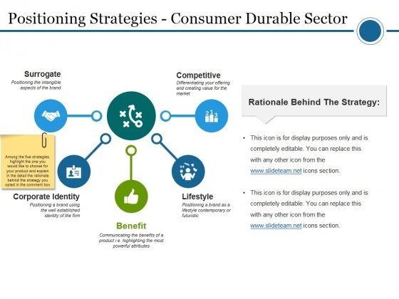 Positioning Strategies Consumer Durable Sector Ppt PowerPoint Presentation Professional Picture