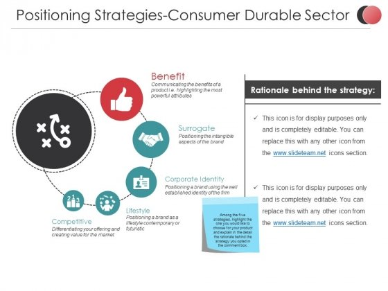 Positioning Strategies Consumer Durable Sector Ppt PowerPoint Presentation Template