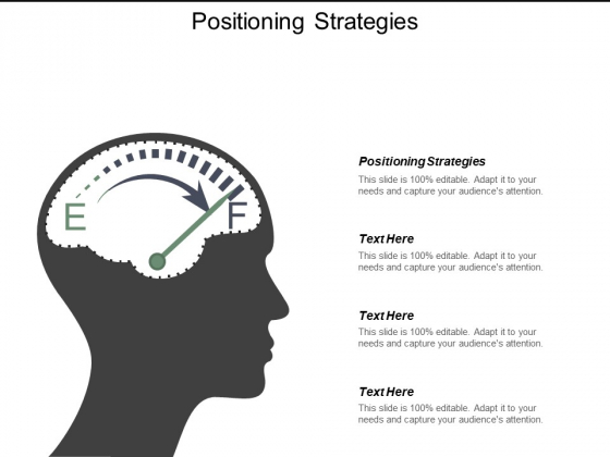 Positioning Strategies Ppt PowerPoint Presentation Visual Aids Icon Cpb