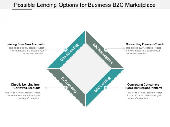 Possible Lending Options For Business B2c Marketplace Ppt Powerpoint Presentation Pictures Template