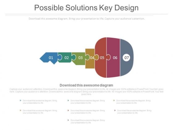 Possible Solutions Key Design Ppt Slides