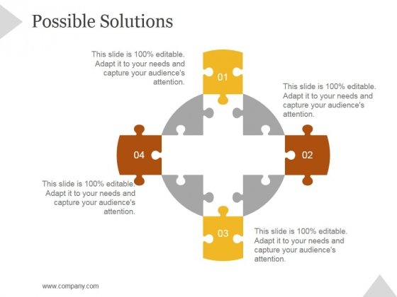 Possible Solutions Ppt PowerPoint Presentation Deck