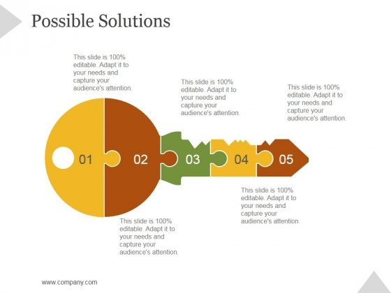Possible Solutions Ppt PowerPoint Presentation Portfolio