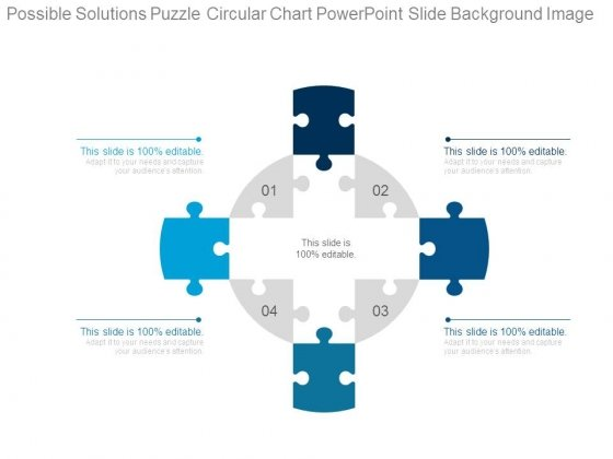 Possible Solutions Puzzle Circular Chart Powerpoint Slide Background Image