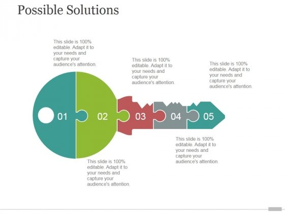 Possible Solutions Tamplate 2 Ppt PowerPoint Presentation Template