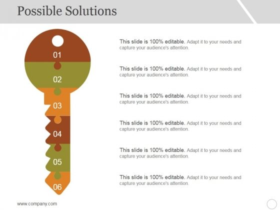 Possible Solutions Template 1 Ppt PowerPoint Presentation Model Maker
