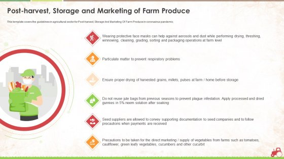Post Harvest Storage And Marketing Of Farm Produce Ppt Styles Guidelines PDF