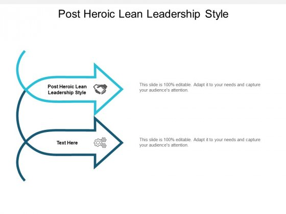 Post Heroic Lean Leadership Style Ppt PowerPoint Presentation Slides Show Cpb
