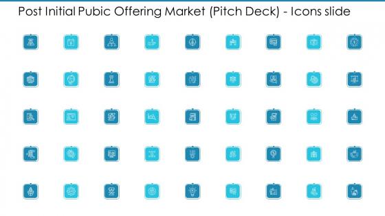 Post Initial Pubic Offering Market Pitch Deck Post Initial Pubic Offering Market Pitch Deck Icons Slide Diagrams PDF