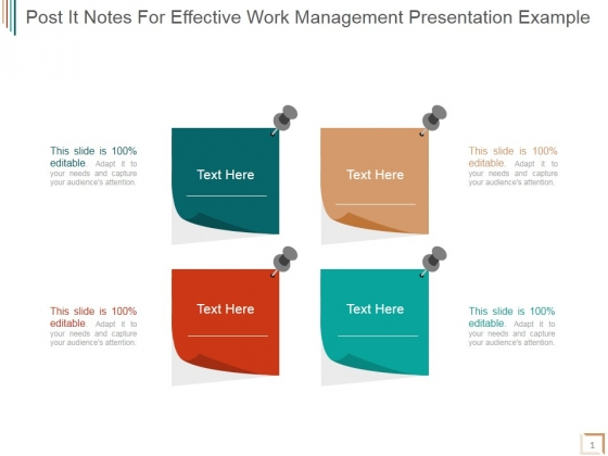 post it notes for effective work management ppt powerpoint