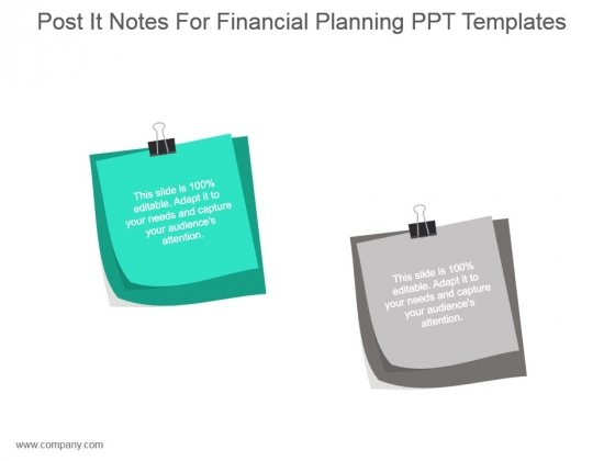 Post It Notes For Financial Planning Ppt Templates
