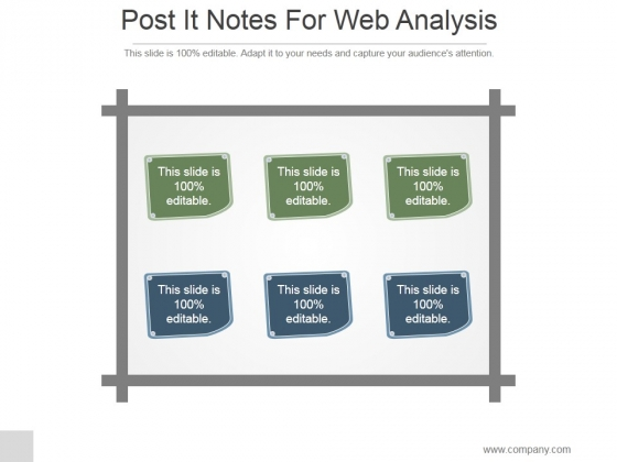 Post It Notes For Web Analysis Ppt PowerPoint Presentation Layout