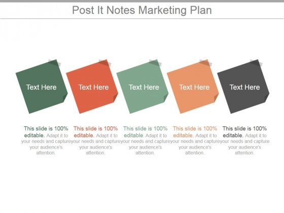 Post It Notes Marketing Plan Ppt PowerPoint Presentation Infographic Template