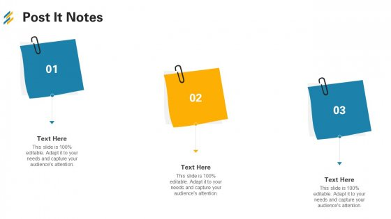Post It Notes Ppt Ideas Maker PDF