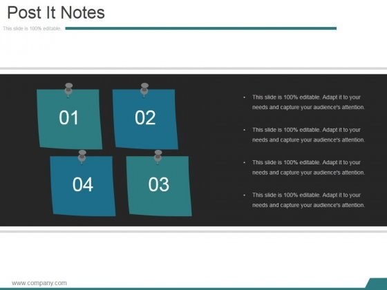 Post It Notes Ppt PowerPoint Presentation Files