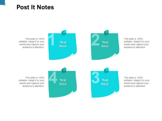 Post It Notes Ppt PowerPoint Presentation Show Gallery