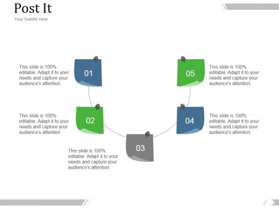 Post It Ppt PowerPoint Presentation Model
