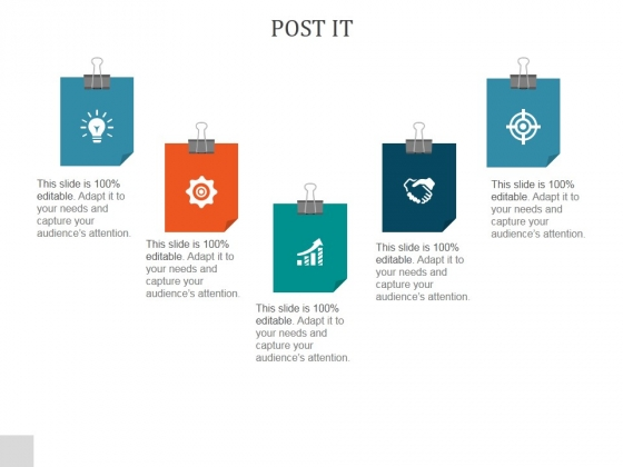 Post It Ppt PowerPoint Presentation Shapes