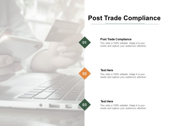 Post Trade Compliance Ppt PowerPoint Presentation Professional Layouts Cpb Pdf