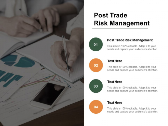 Post Trade Risk Management Ppt PowerPoint Presentation File Images Cpb Pdf