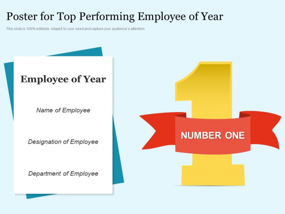 Poster For Top Performing Employee Of Year Ppt PowerPoint Presentation Summary Smartart PDF