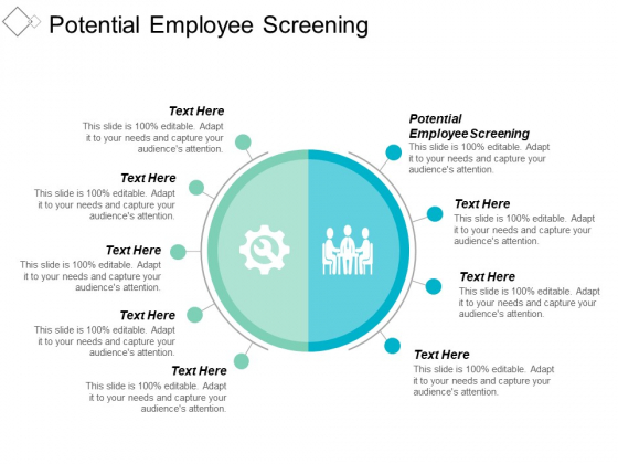 Potential Employee Screening Ppt PowerPoint Presentation Gallery Summary Cpb