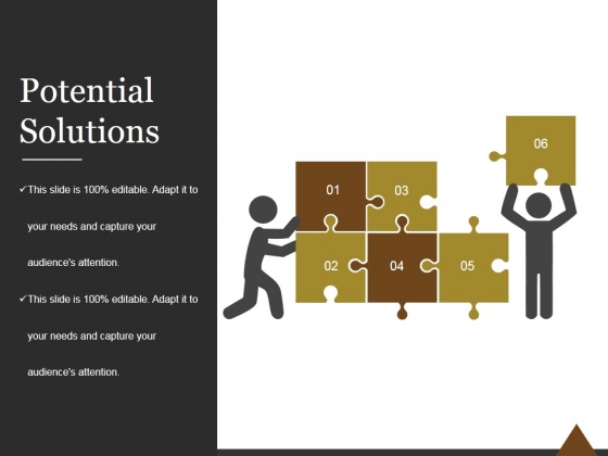 Potential Solutions Ppt PowerPoint Presentation Diagrams