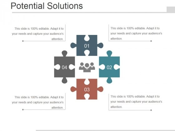 Potential Solutions Ppt PowerPoint Presentation Visual Aids